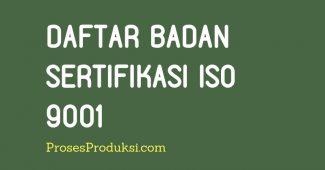 nama-nama badan sertifikasi iso 9001