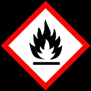 simbol bahan kimia mudah terbakar