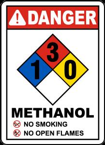 simbol bahaya metanol
