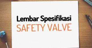 spesifikasi pressure safety valve